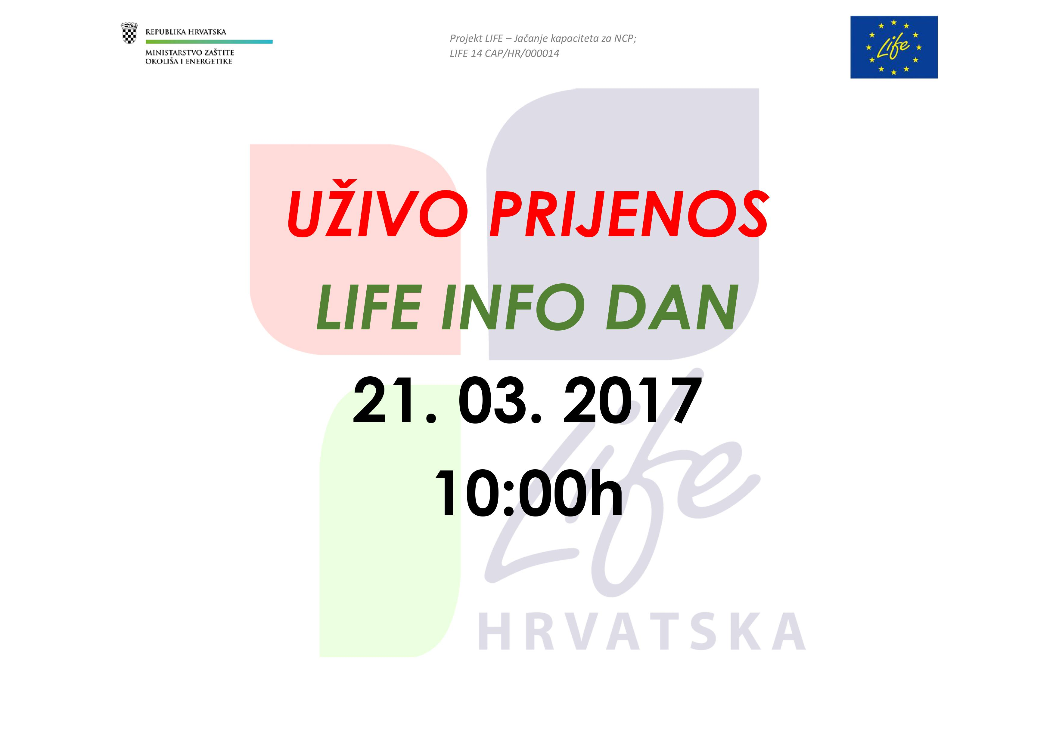 UŽIVO PRIJENOS – LIFE INFO dan 21. 03.