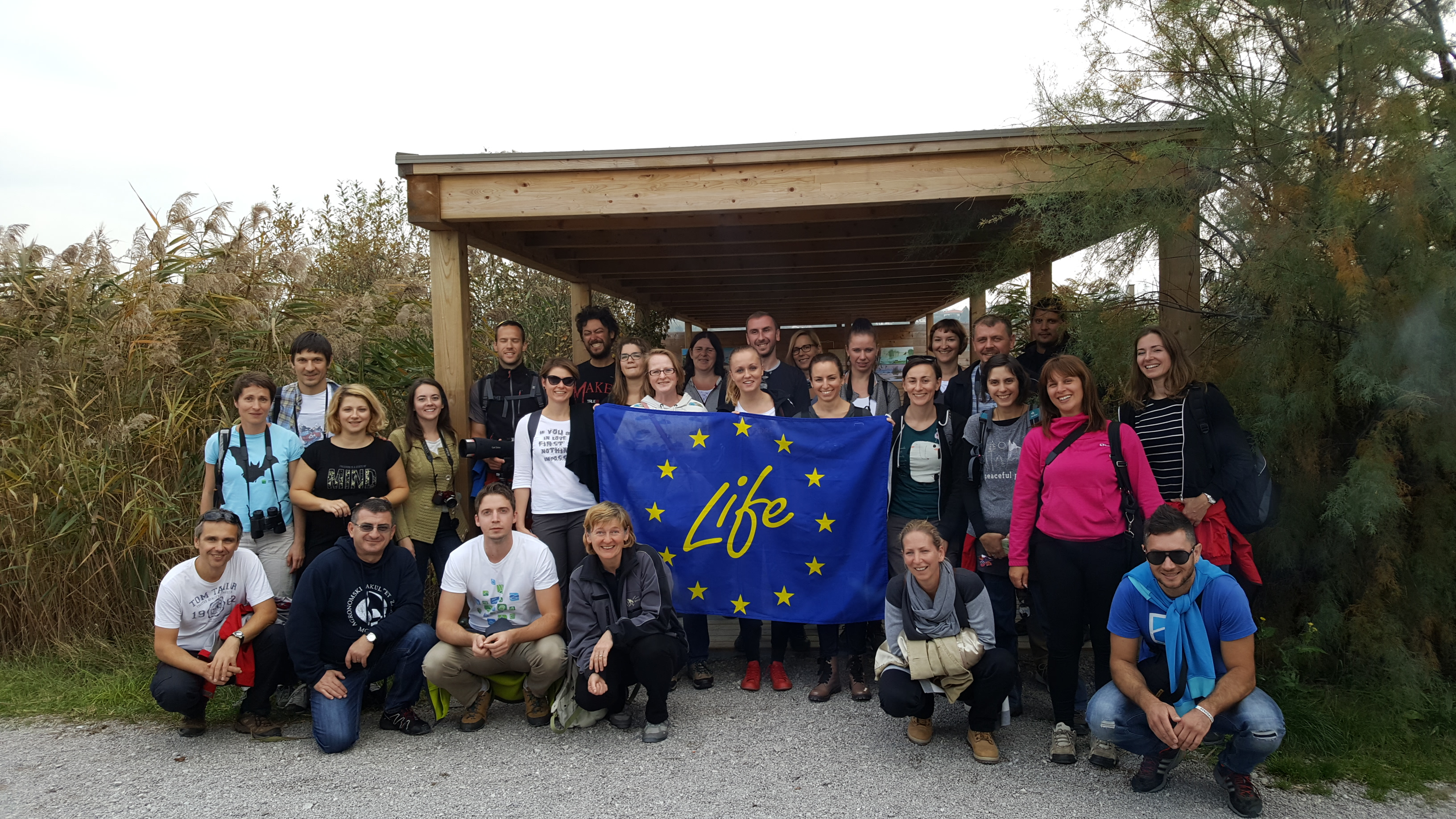 Croatian representatives visited best practice LIFE projects in Slovenia and Italy